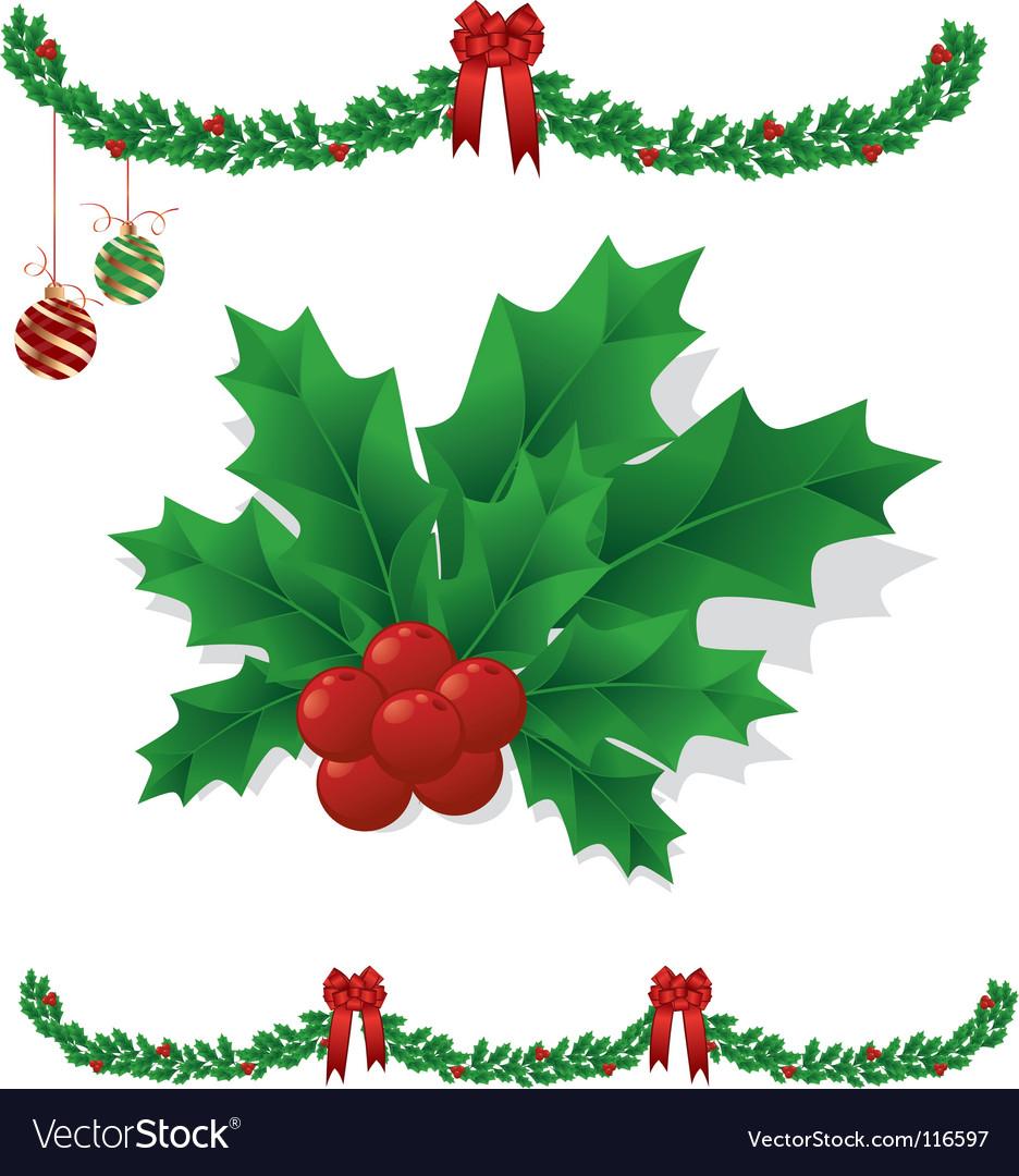 mistletoe royalty free vector image vectorstock rh vectorstock com Mistletoe Icon European Herb Mistletoe