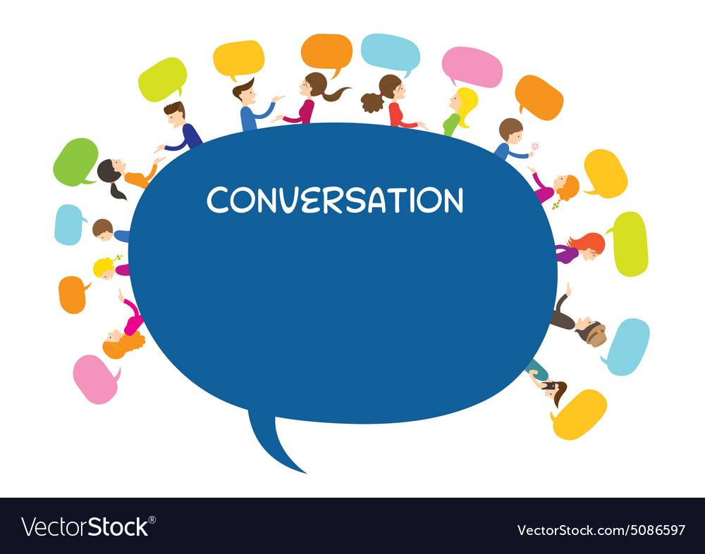 People Conversation Text Balloon