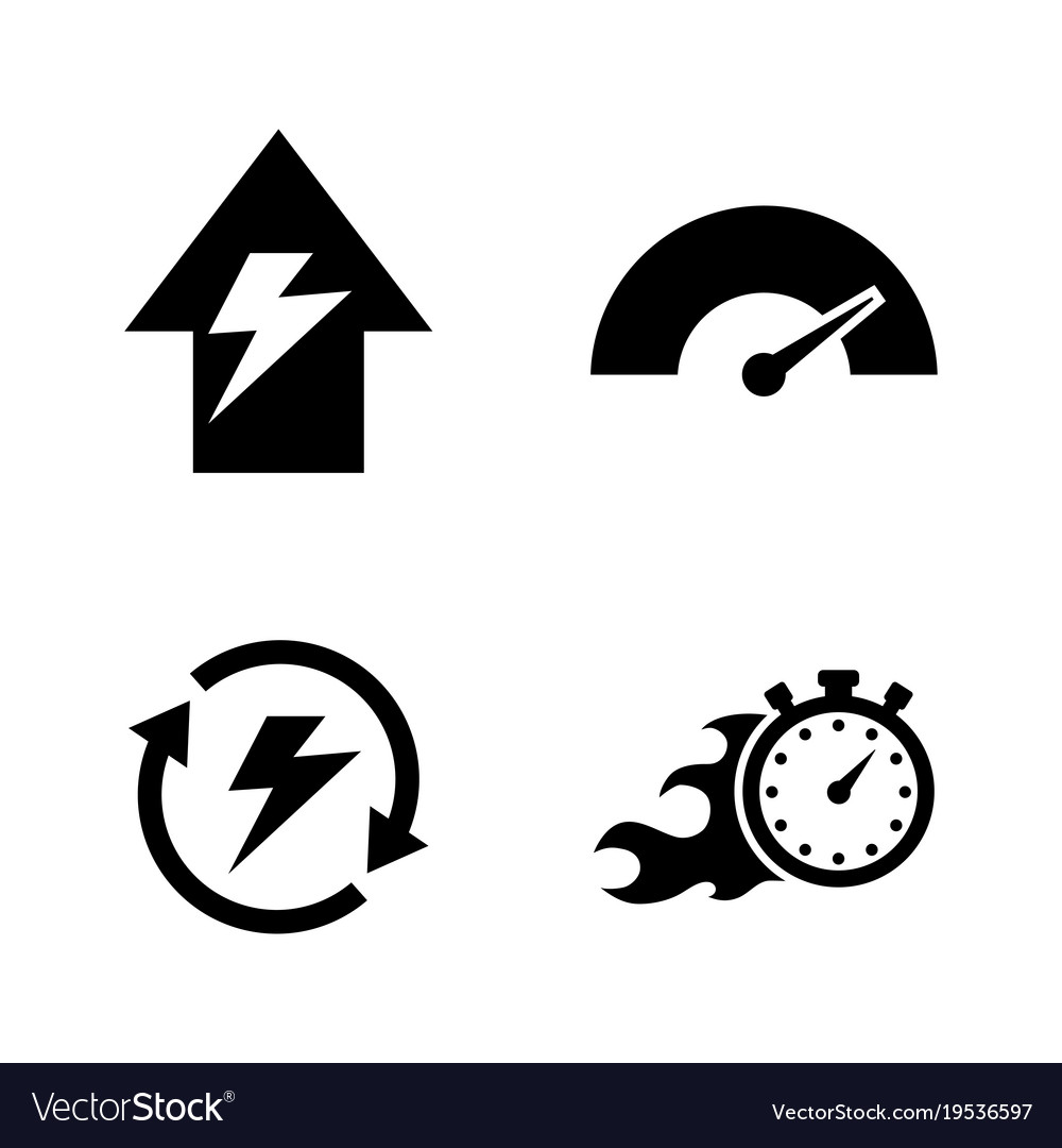 Performance simple related icons
