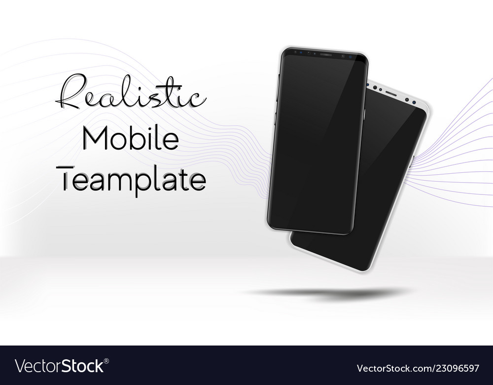 Realistic white and black smartphone mock up