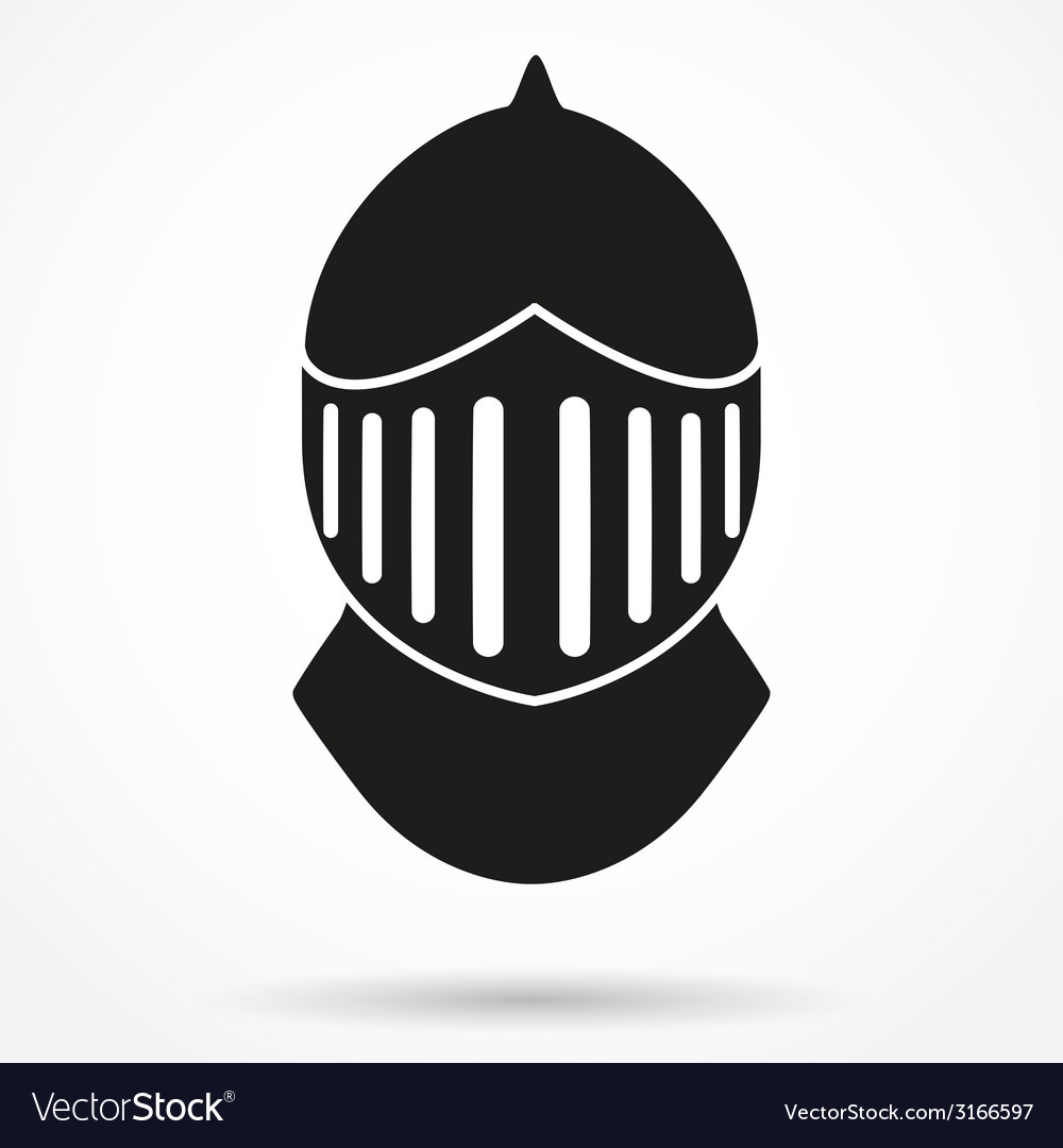 silhouette symbol of knights helmet royalty free vector