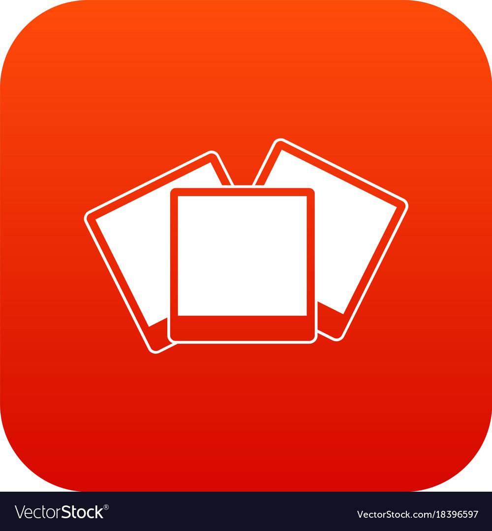 Wedding invitation cards icon digital red Vector Image