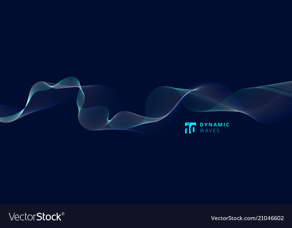 Abstract lines dynamic waves pattern on blue
