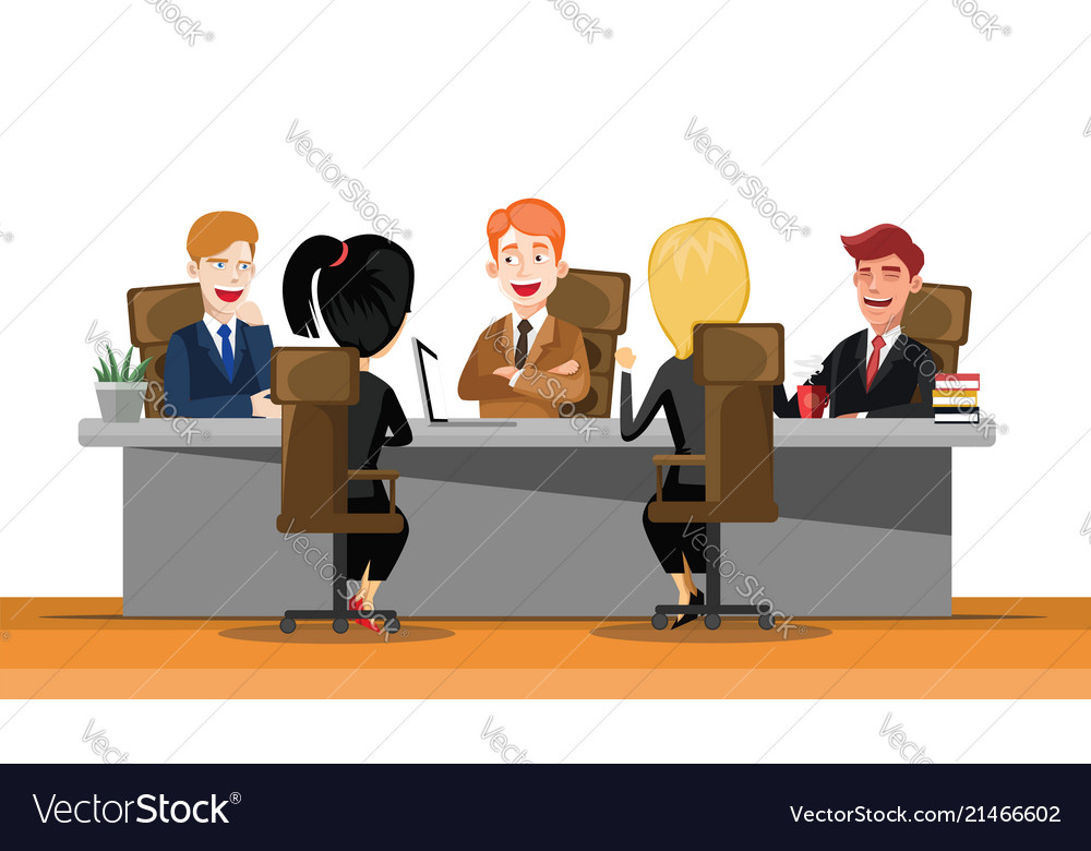 Business man meeting at a big conference desk