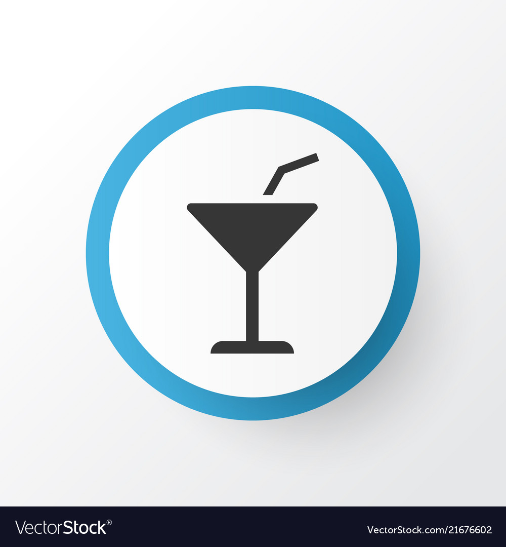 Cocktail icon symbol premium quality isolated