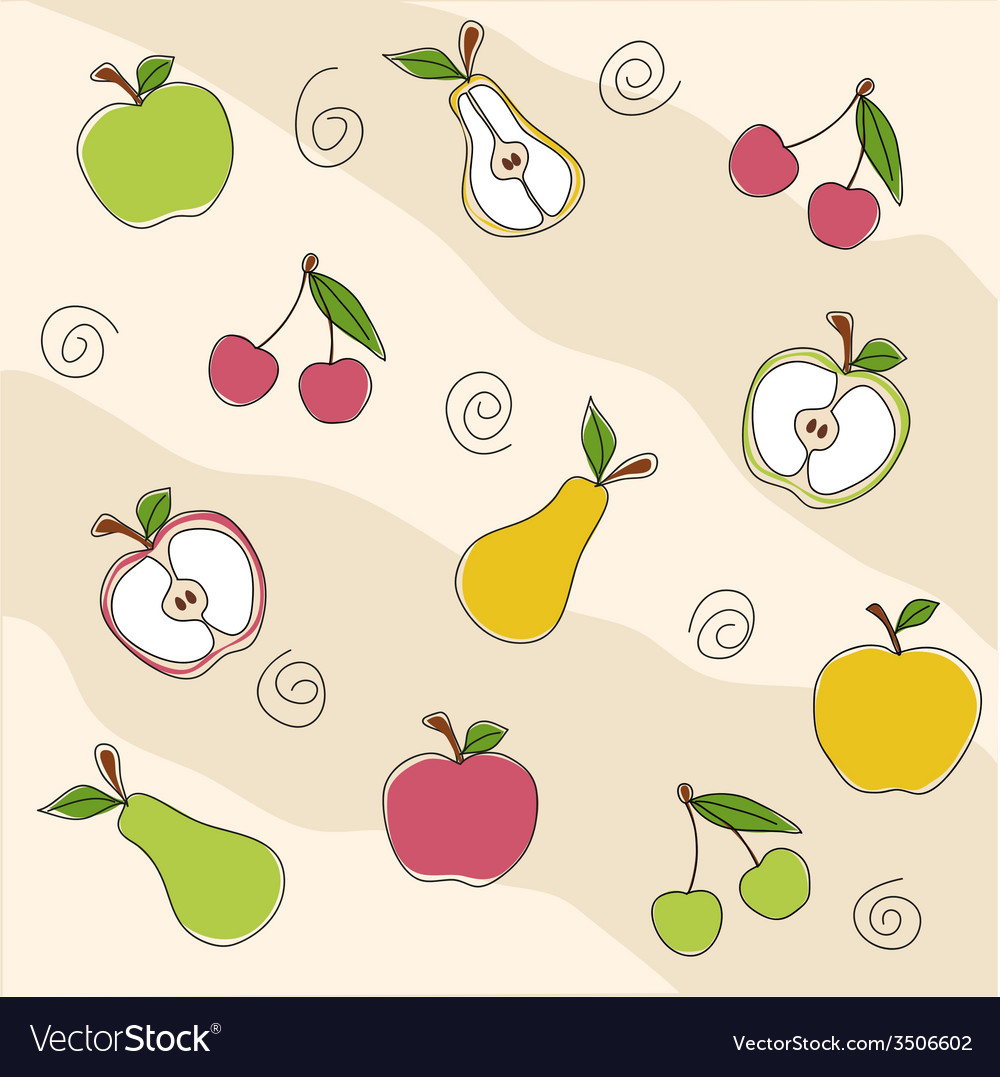 Fruit seamless texture vector image