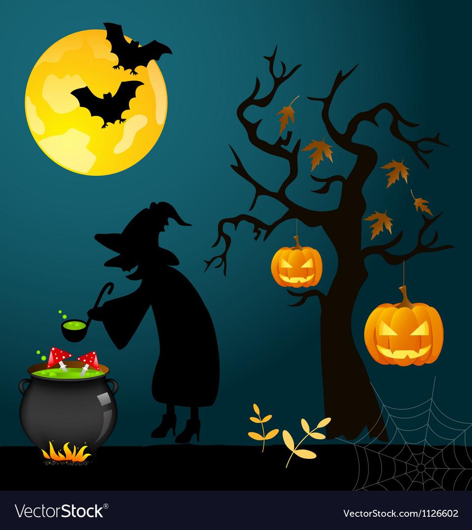 Halloween Card Royalty Free Vector Image Vectorstock