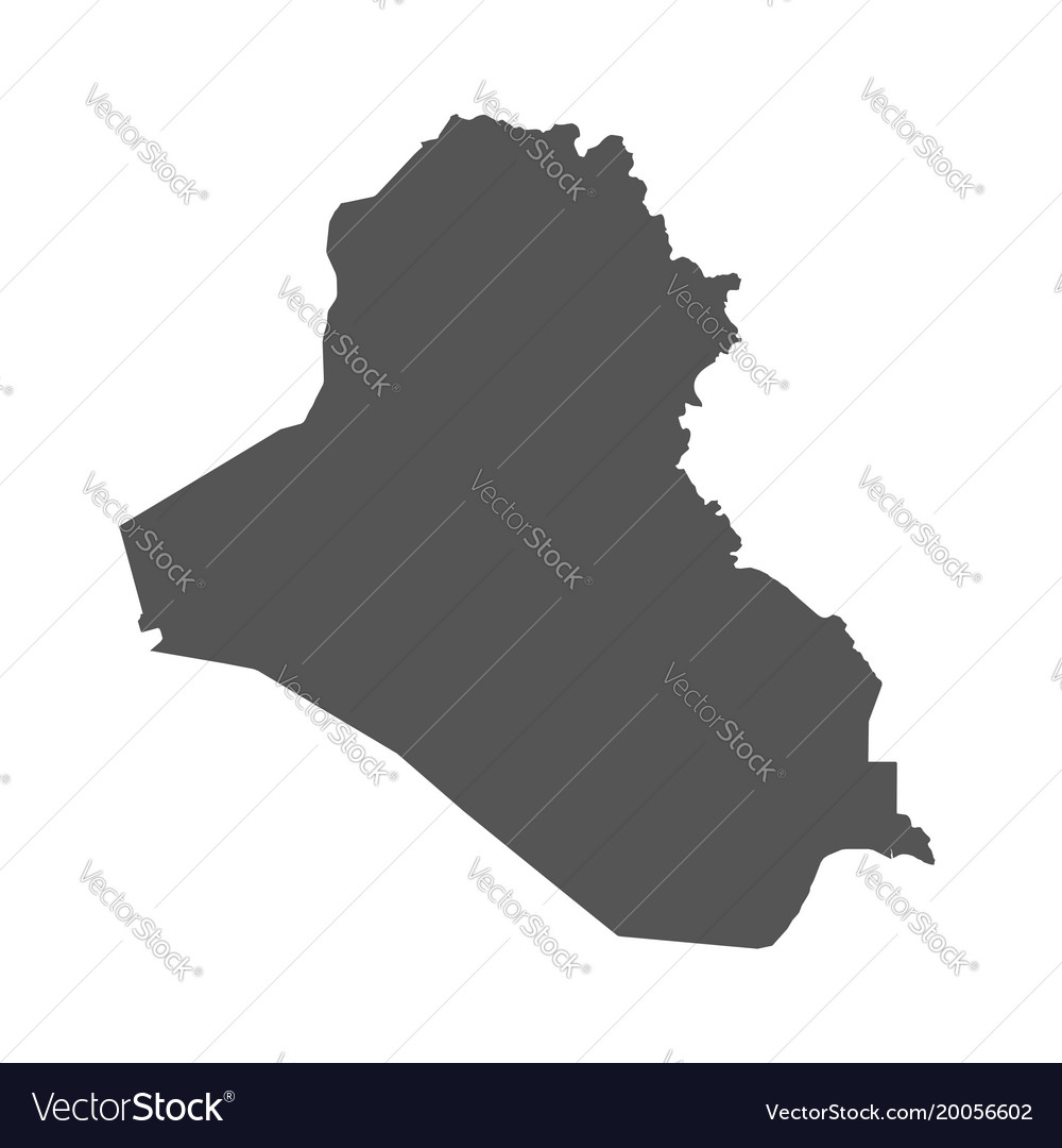 Iraq map black icon on white background Royalty Free Vector