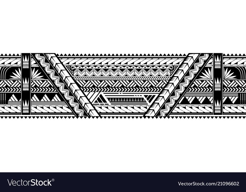 Maori Style Armband Tattoo Shape Royalty Free Vector Image