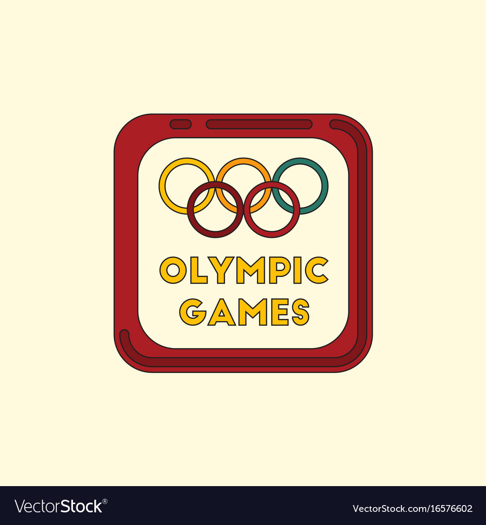 Sign Symbol Olympics Games Royalty Free Vector Image