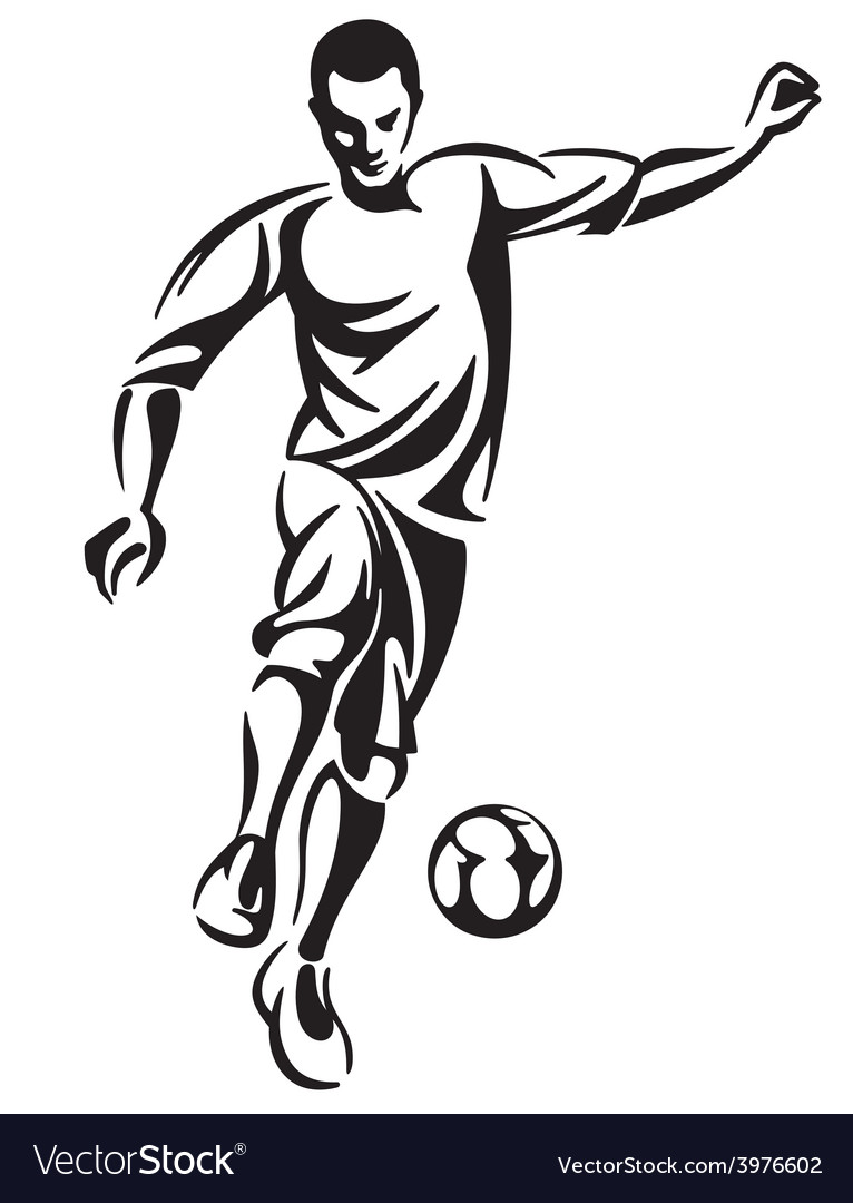 Soccer Football Player Royalty Free Vector Image