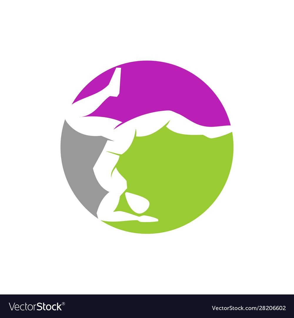 yoga circle logo design meditation isolated vector image vectorstock