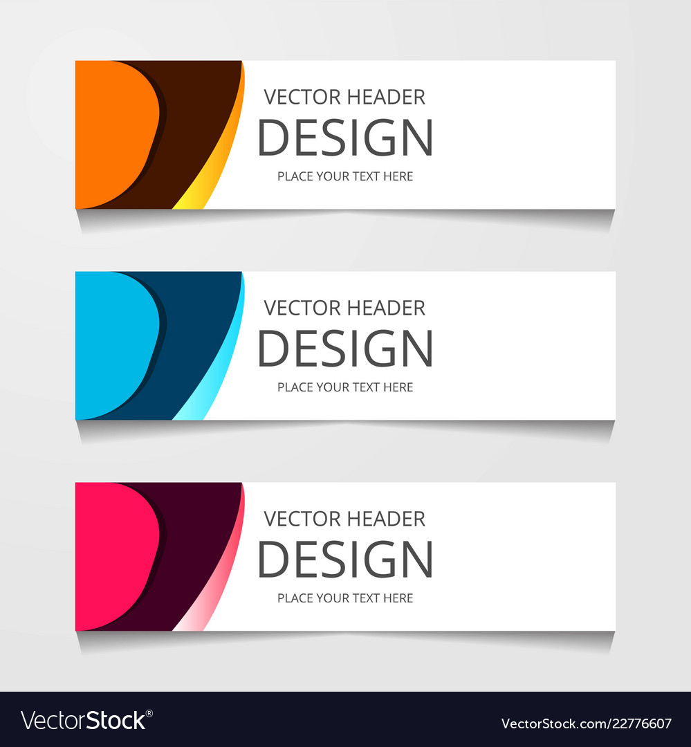 Abstract geometric design banner web template
