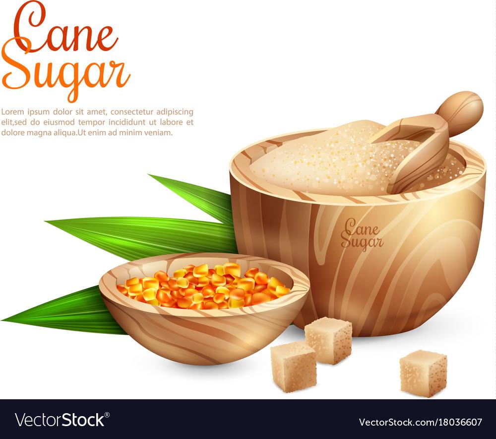 Cane sugar pail background