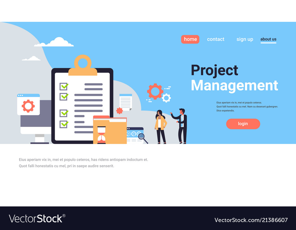 Checklist survey project management business man