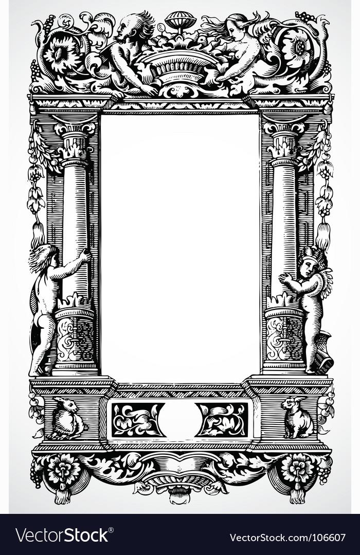 1a05f9972c9e Column frame Royalty Free Vector Image - VectorStock