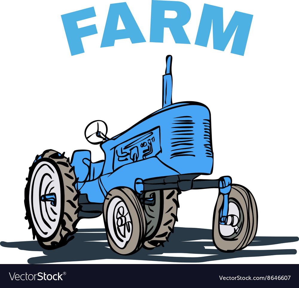 Farm Tractor Grunge T Shirt Print Design Vector Image