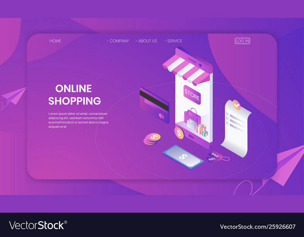 Online shopping on smartphone store concept