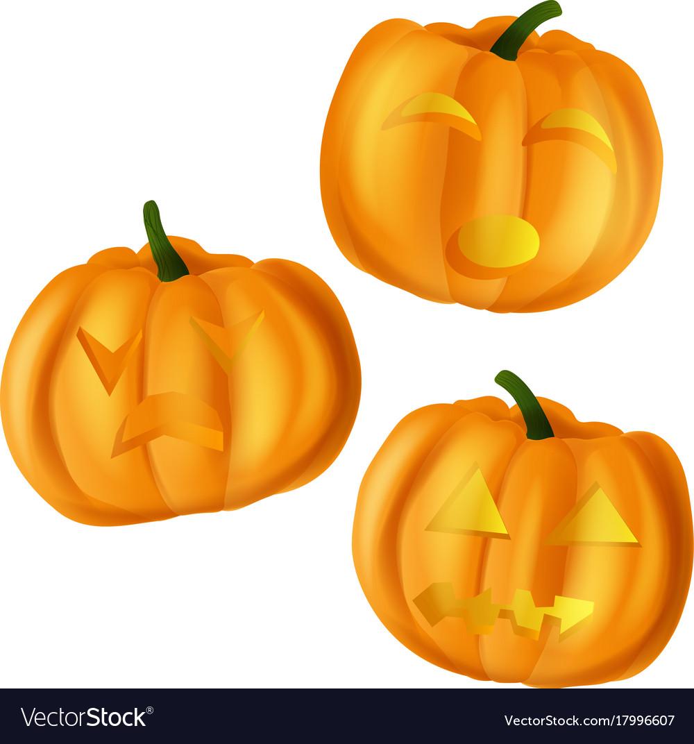 Pumpkins for halloween on
