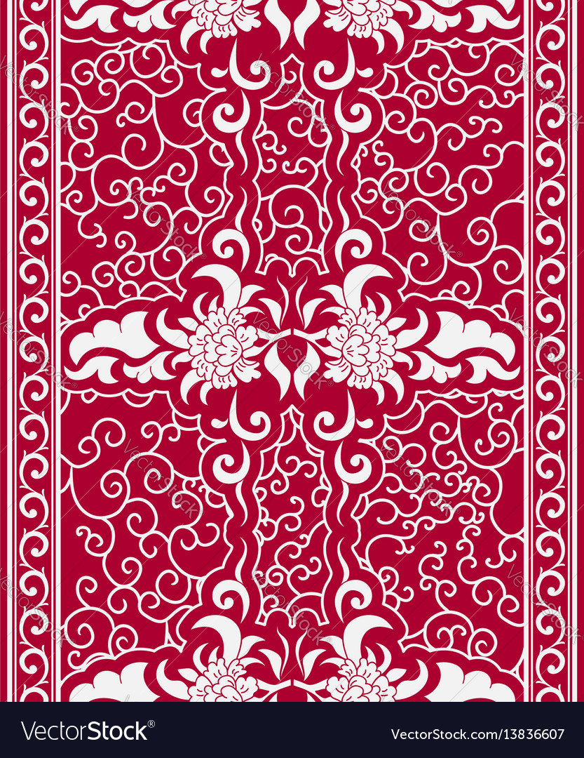 Seamless vertical pattern in a chinese style