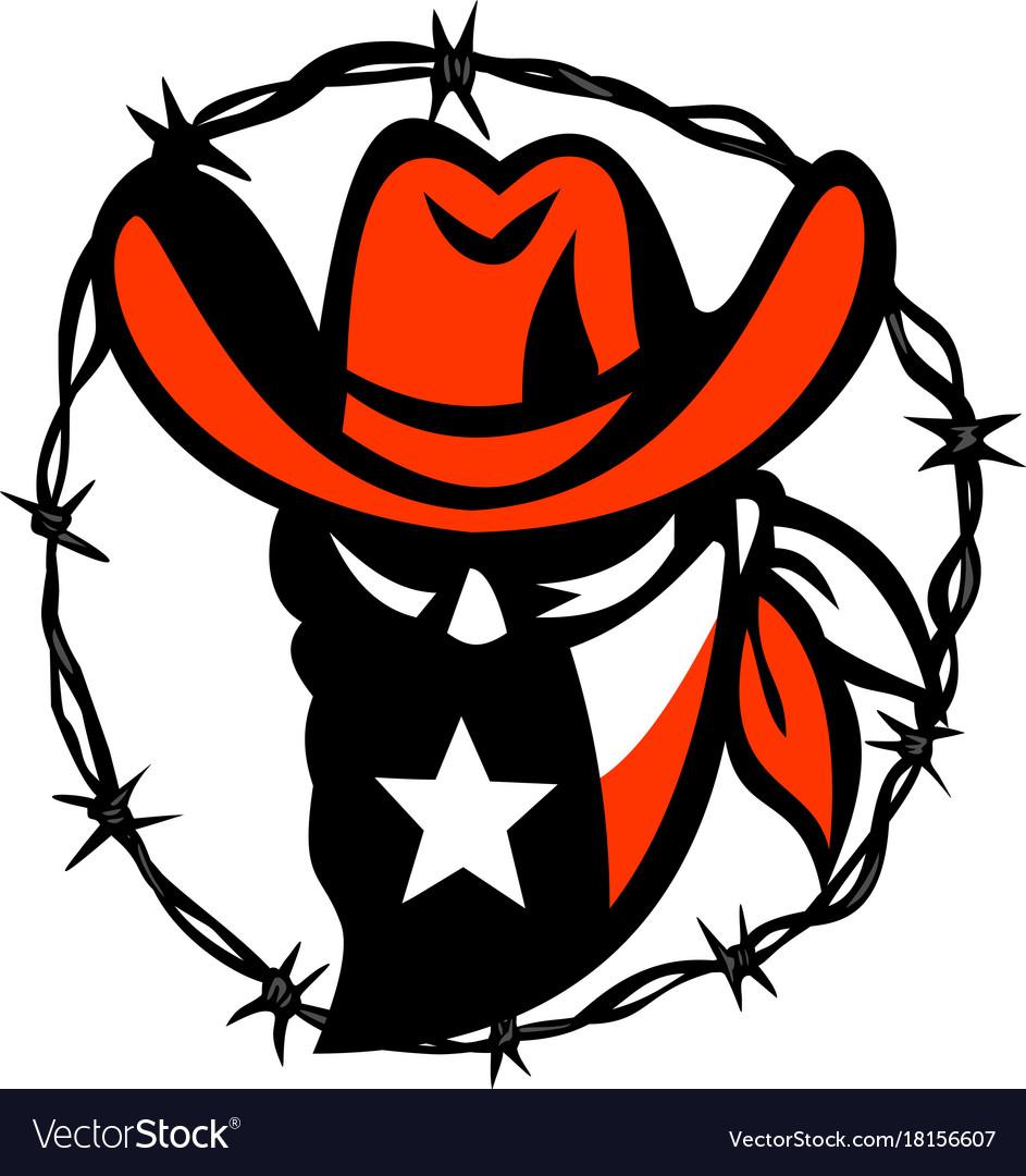 Texan outlaw texas flag barb wire icon