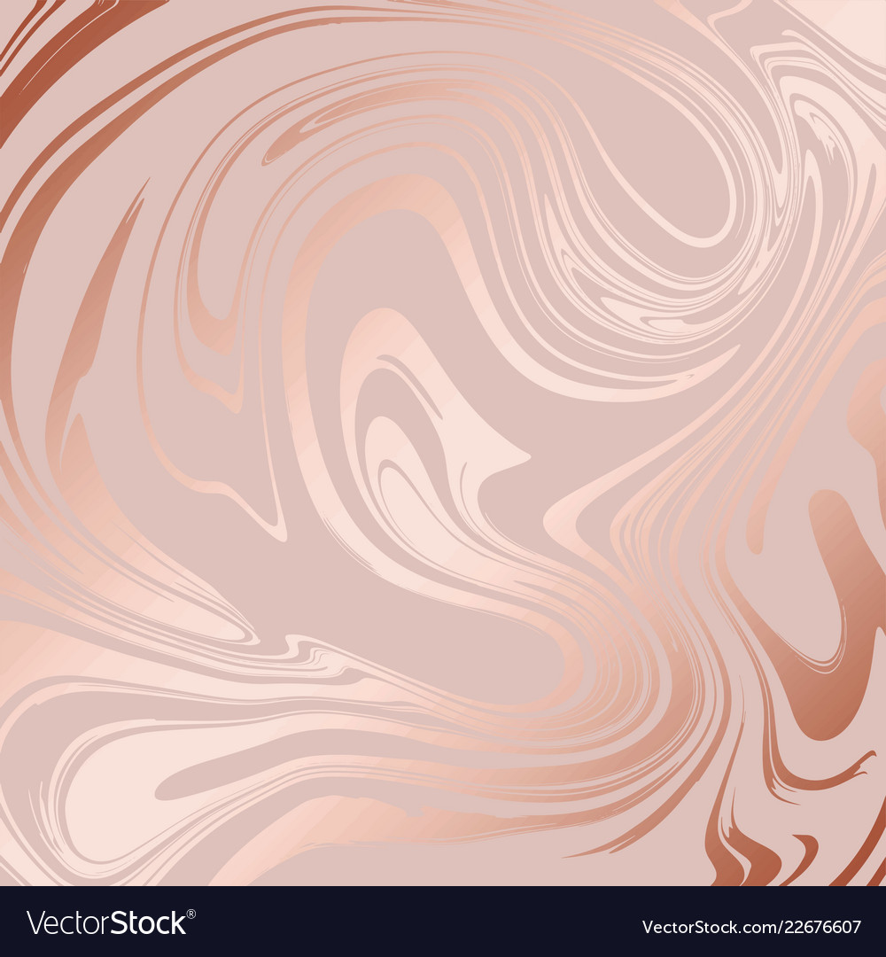 Texture Marble With Imitation Rose Gold Royalty Free Vector