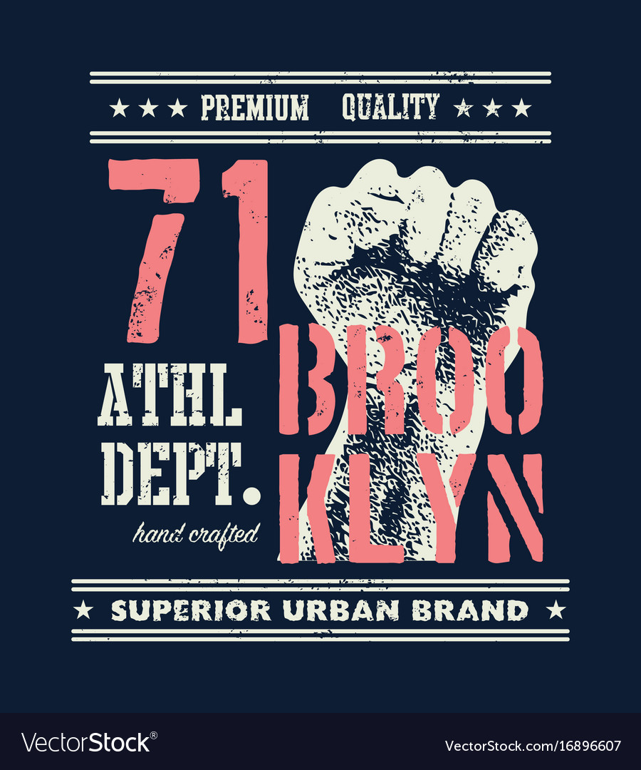 3bc5ac713 Vintage urban typography t-shirt graphics Vector Image