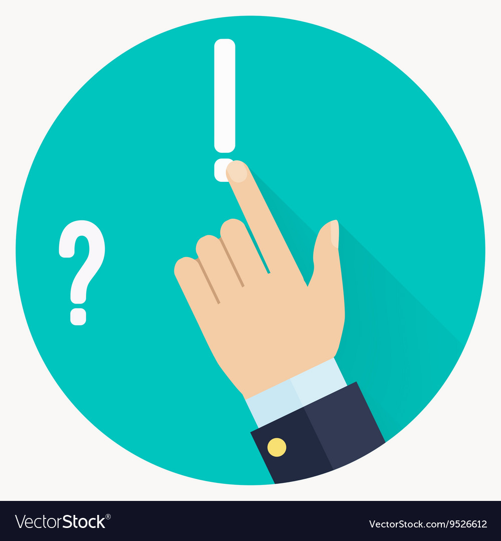 Advice icon Businessman hand with pointing finger