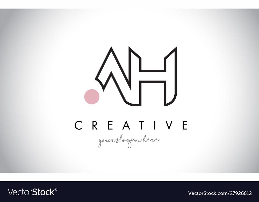 Ah letter logo design with creative modern trendy