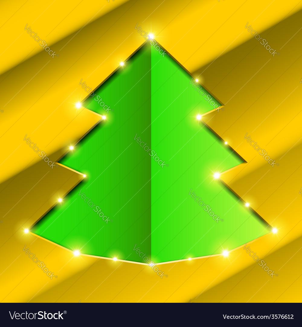 Cutout hole frame Christmas tree