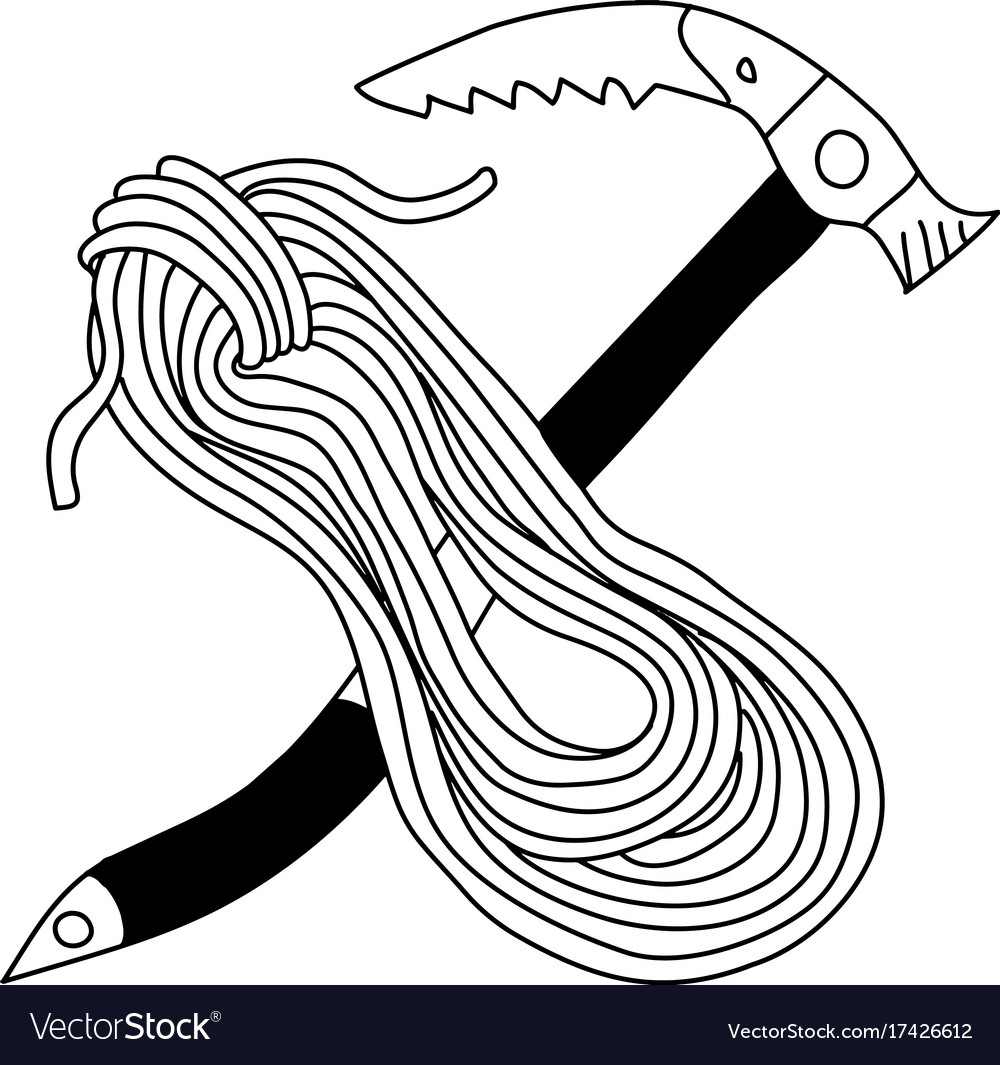 Doodle icon coil of climbing rope vector image