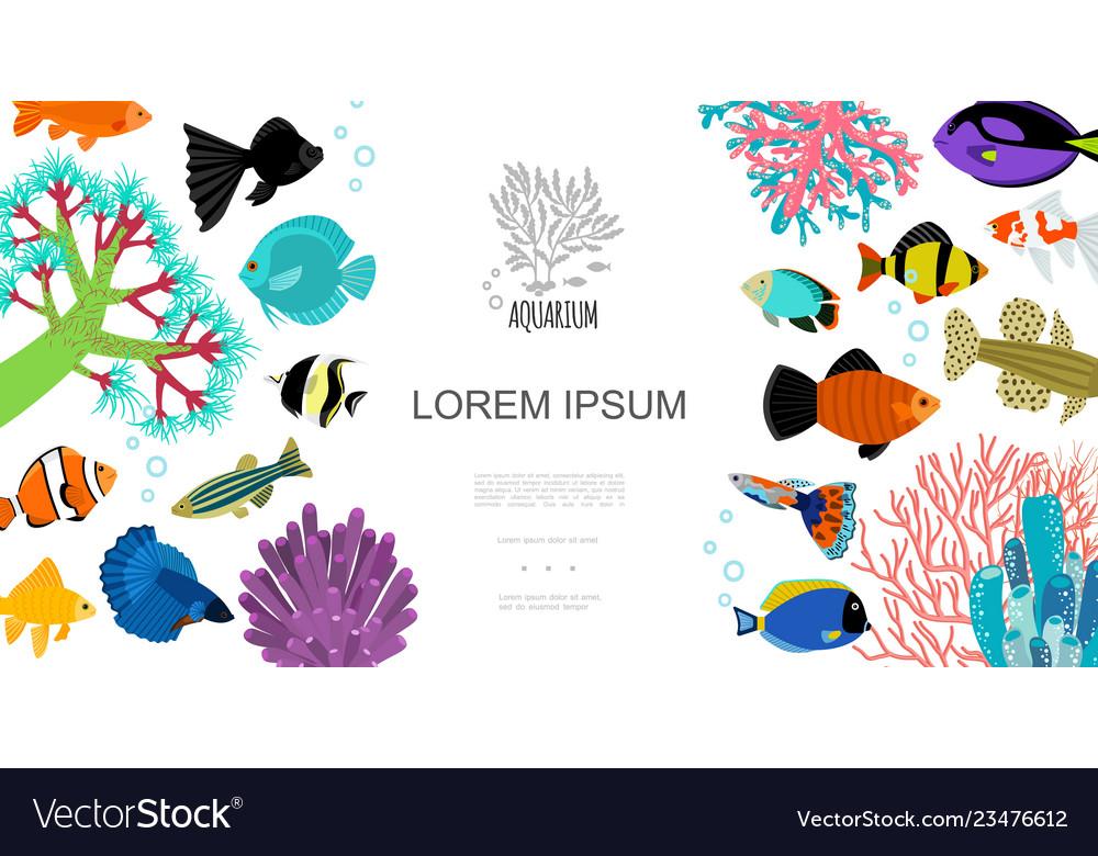 Flat aquarium elements template