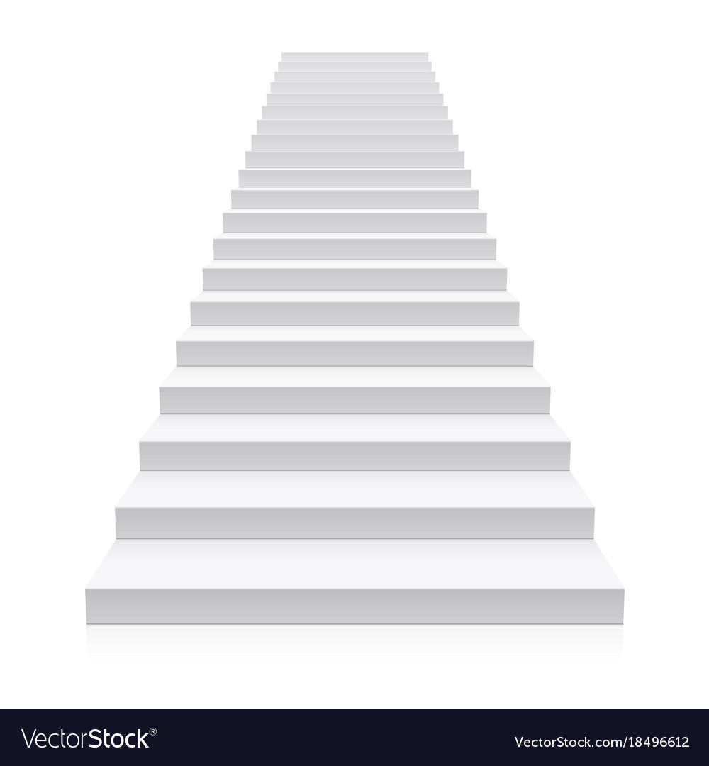 Front View Of White Staircase Royalty Free Vector Image