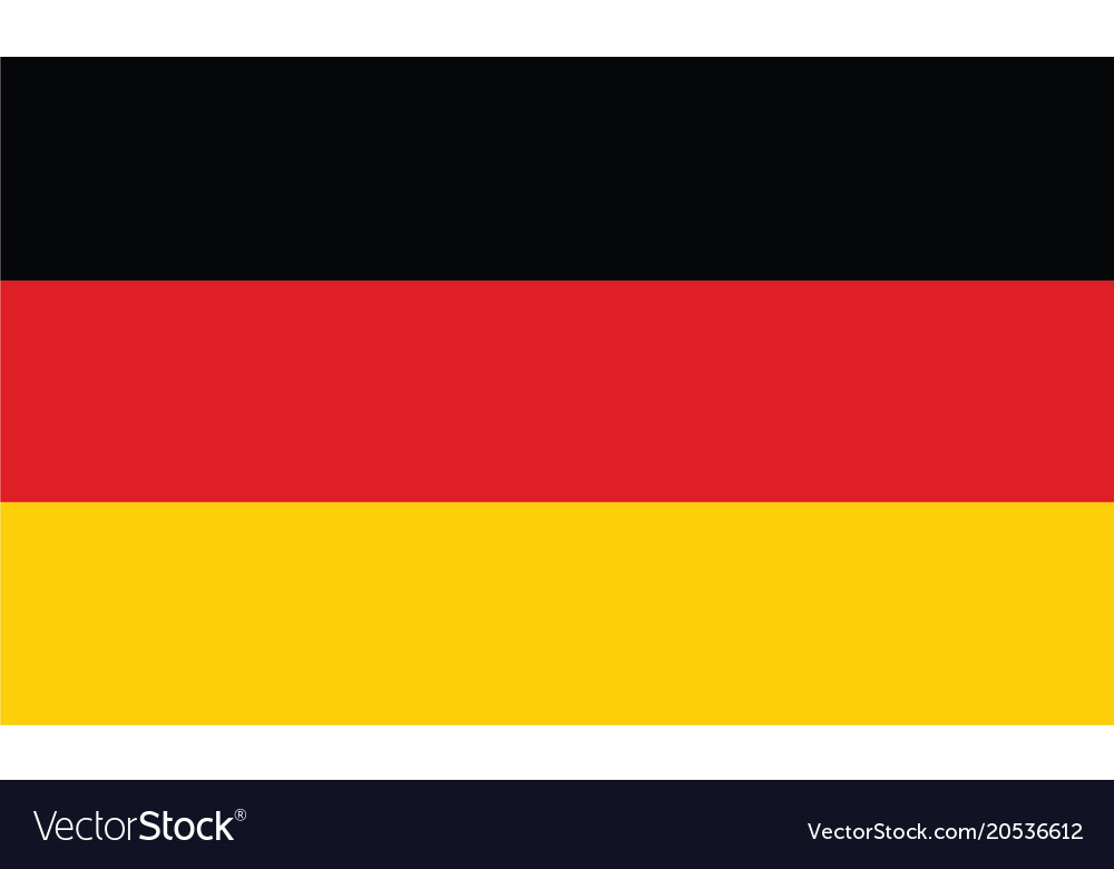 Germany flag official colors and proportion
