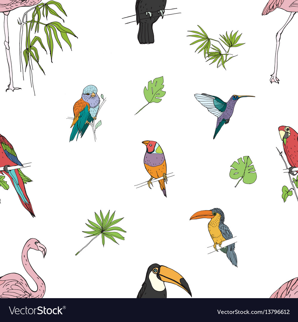 Realistic hand drawn colorful seamless pattern of