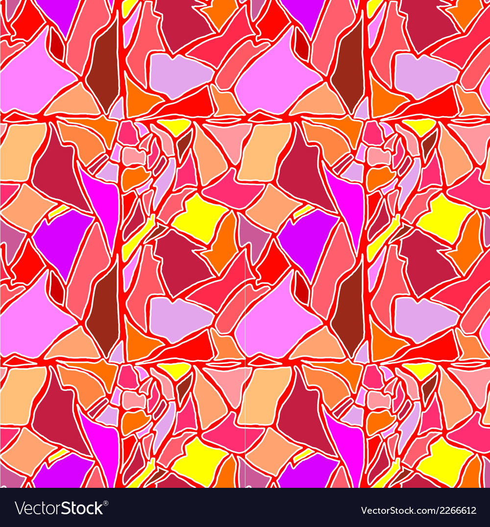 Seamless hand drawn color pattern with eggshell vector image