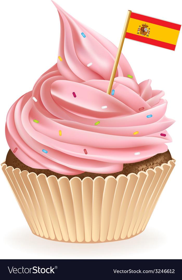 Spanish Cupcake vector image
