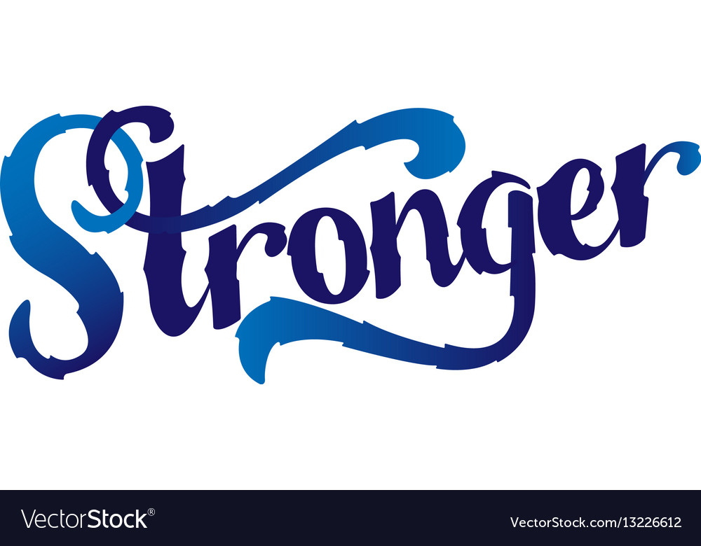 stronger inspirational sport saying motivational vector image