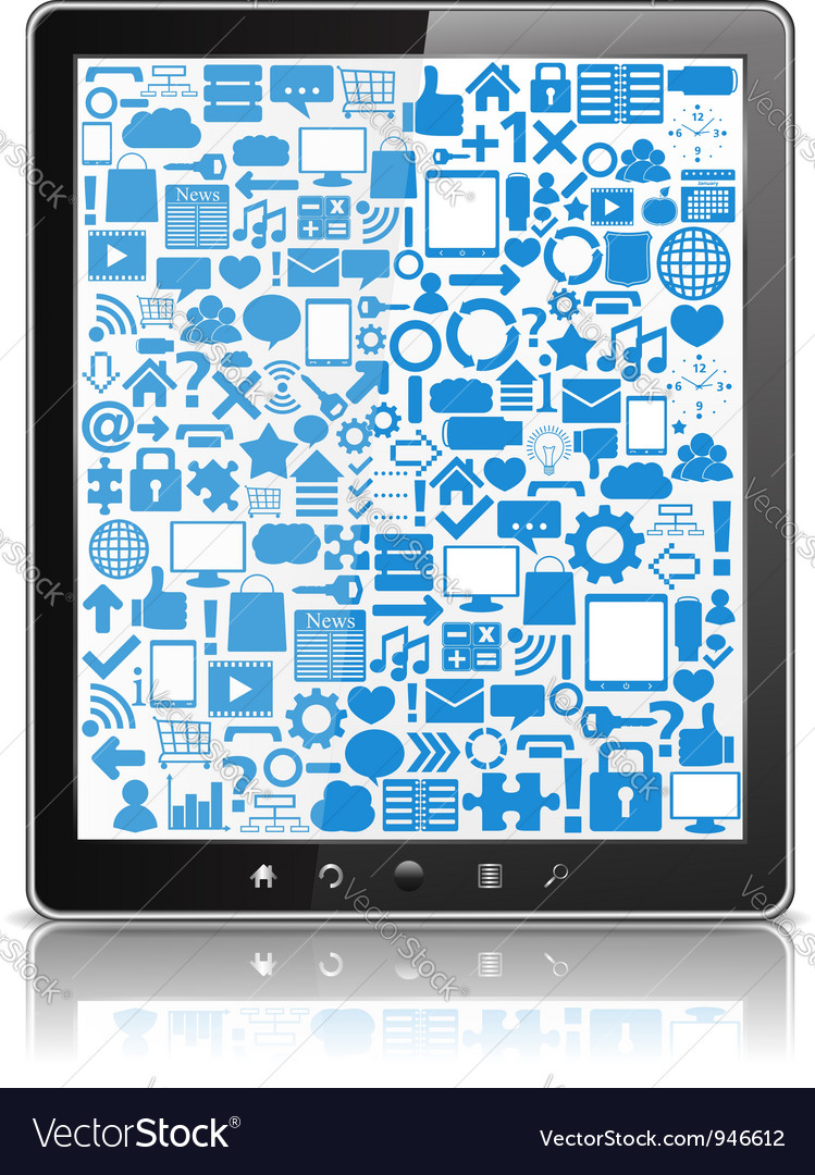 Tablet Computer vector image