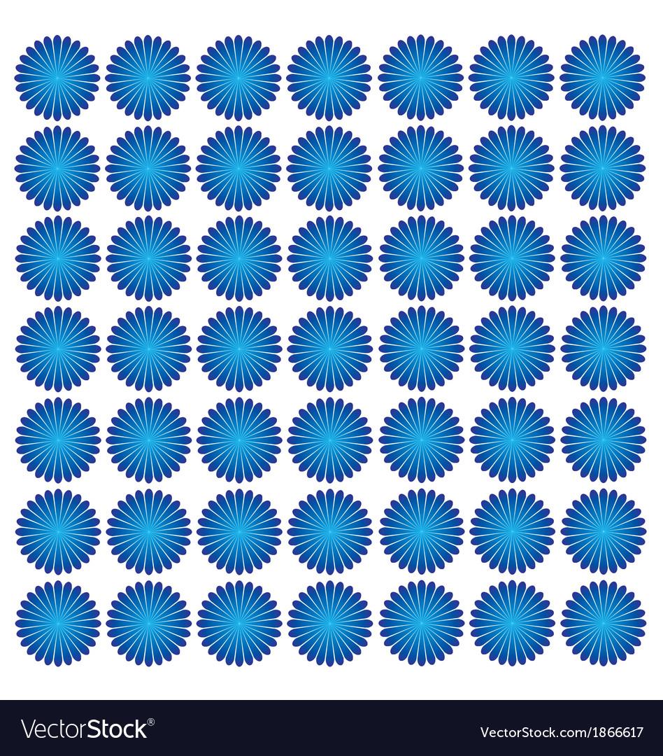 Blue flower wallpaper vector image