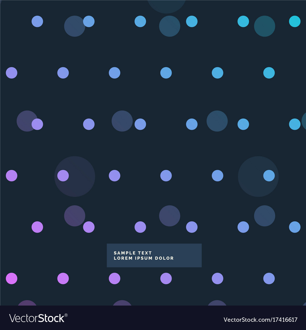 Dark colorful polka dots pattern background
