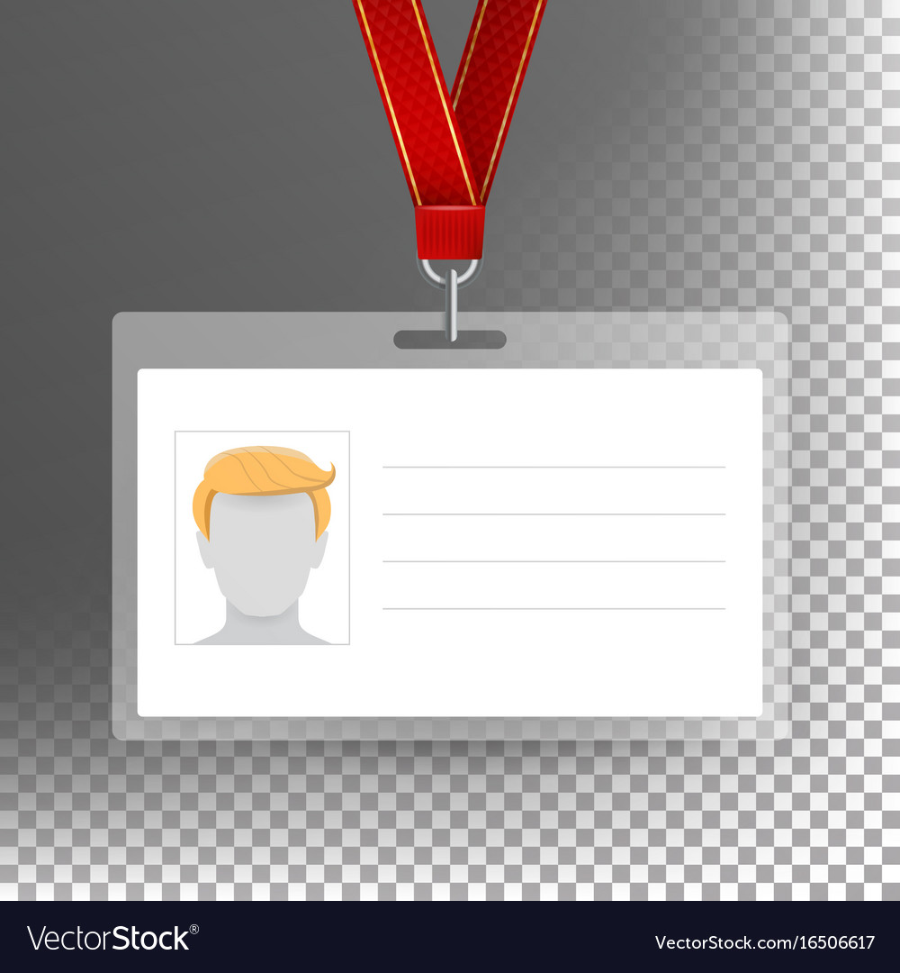 Employee card blank identification card Royalty Free Vector