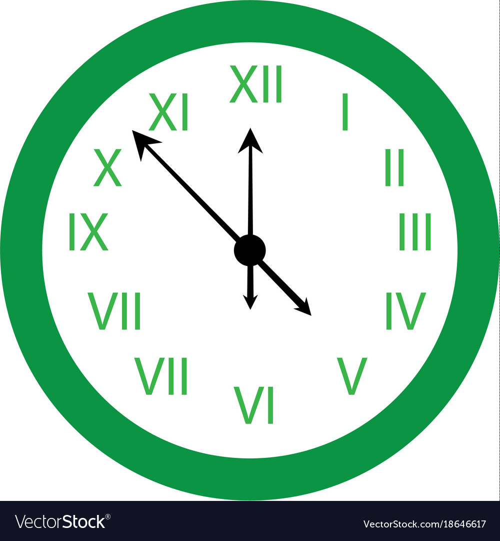 Happy new year clock countdown five minute time vector image