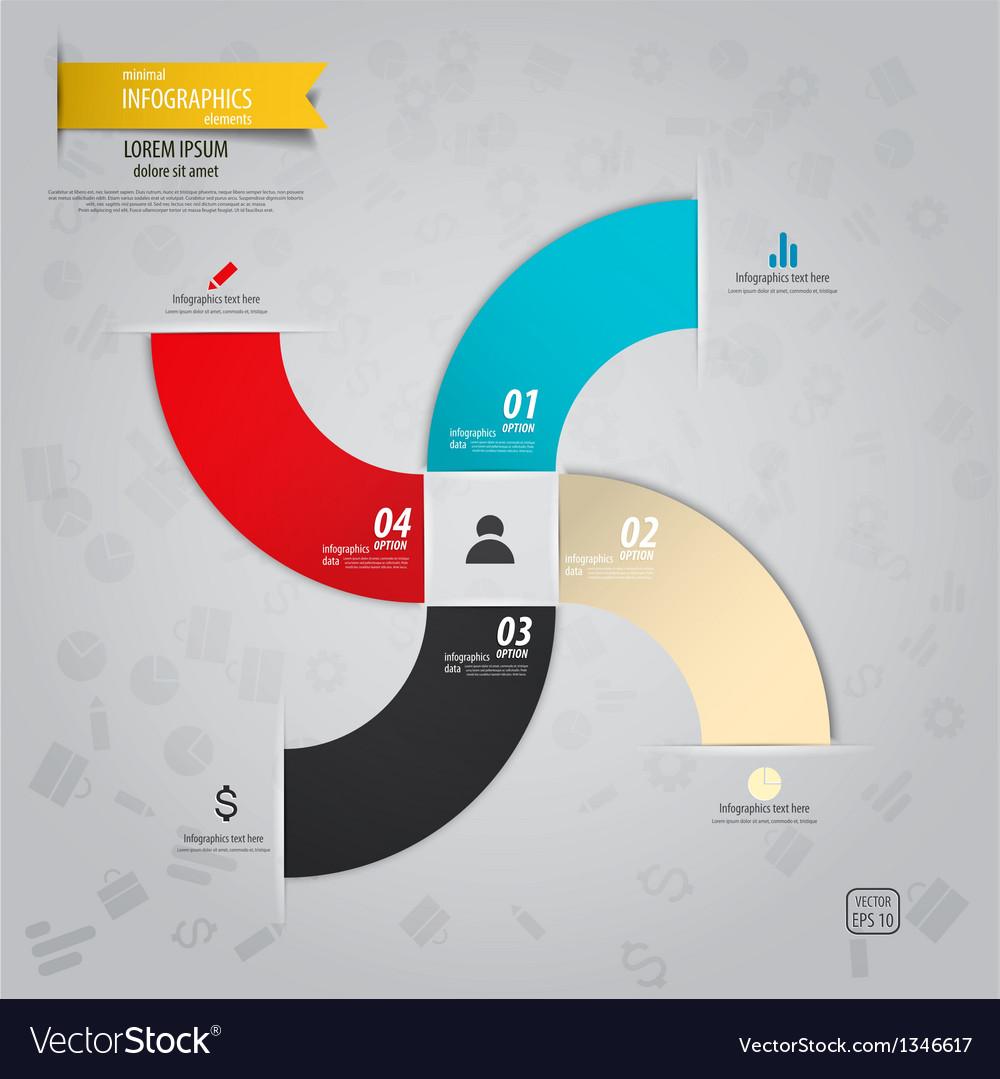 Infographics design 16 vector image
