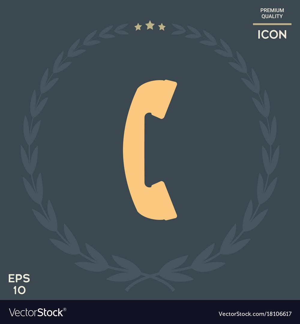 Telephone handset telephone receiver symbol