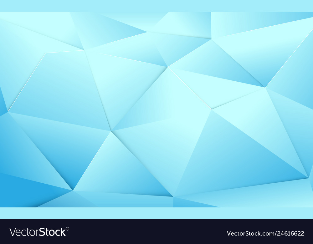 Abstract blue polygonal and crystal background