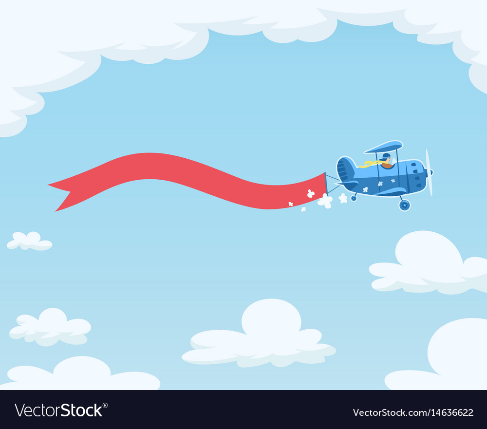 airplane with flag flying royalty free vector image