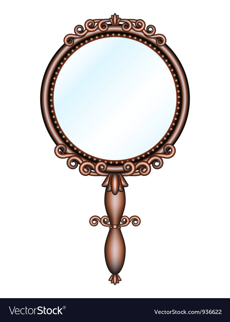 Hand Held Mirror Royalty Free Vector Image