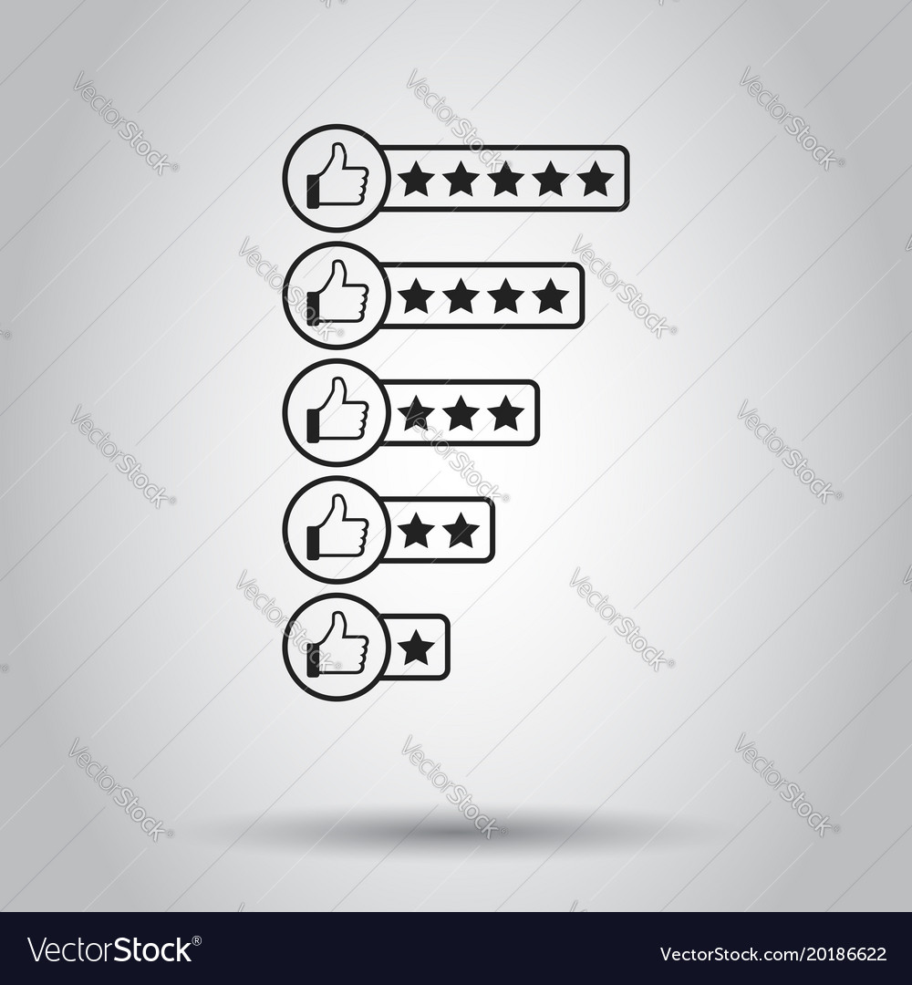 Customer review icon on isolated background