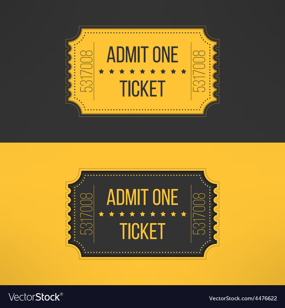 Entry ticket in stylish vintage style Admit one